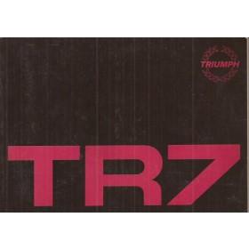 Triumph TR7 Instructieboekje   Benzine Fabrikant 79 ongebruikt   Engels