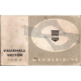 Vauxhall Victor Instructieboekje   Benzine Fabrikant 63 met gebruikssporen   Nederlands