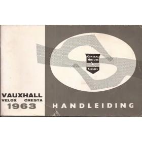 Vauxhall Velox/Cresta Instructieboekje   Benzine Fabrikant 63 met gebruikssporen   Nederlands