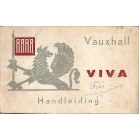 Vauxhall Viva Instructieboekje  HA Benzine Fabrikant 64 met gebruikssporen   Nederlands