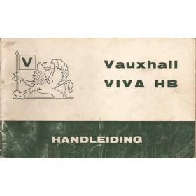 Vauxhall Viva Instructieboekje  HB Benzine Fabrikant 68 met gebruikssporen   Nederlands