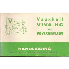 Vauxhall Viva/Magnum Instructieboekje  HC Benzine Fabrikant 75 met gebruikssporen   Nederlands