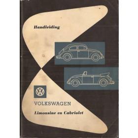 Volkswagen Kever Instructieboekje  T1 Benzine Fabrikant 62 met gebruikssporen   Nederlands