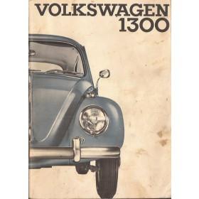 Volkswagen Kever Instructieboekje  T1 1300 Benzine Fabrikant 65 met gebruikssporen   Nederlands