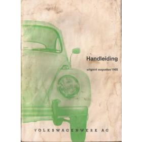 Volkswagen Kever Instructieboekje  T1 Benzine Fabrikant 65 met gebruikssporen lichte vochtschade  Nederlands