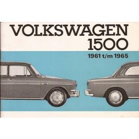 Volkswagen Ponton Instructieboekje  T3 1500 Benzine Fabrikant 61-65 ongebruikt   Nederlands