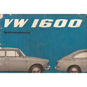 Volkswagen Ponton Instructieboekje  T3 1600 Benzine Fabrikant 65 met gebruikssporen beschadigde kaft  Duits