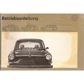 Volkswagen Ponton Instructieboekje  T3 Benzine Fabrikant 71 met gebruikssporen folie kaft laat deels los  Duits