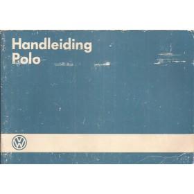 Volkswagen Polo Instructieboekje   Benzine Fabrikant 86 met gebruikssporen blauwe kaft  Nederlands