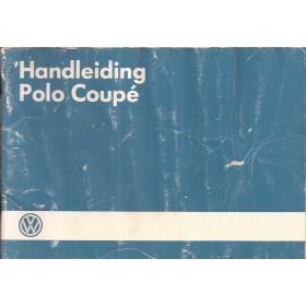 Volkswagen Polo Coupe Instructieboekje   Benzine Fabrikant 86 met gebruikssporen blauwe kaft, lichte vochtschade  Nederlands