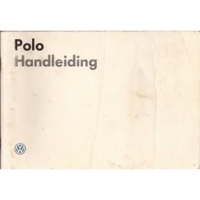 Volkswagen Polo Instructieboekje   Benzine Fabrikant 86 met gebruikssporen witte kaft, vouw in kaft  Nederlands