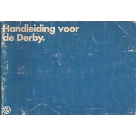 Volkswagen Derby Instructieboekje   Benzine Fabrikant 79 met gebruikssporen   Nederlands