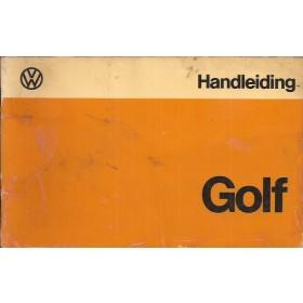 Volkswagen Golf Instructieboekje   Benzine/Diesel Fabrikant 74 met gebruikssporen folie kaft laat deels los  Nederlands