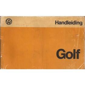 Volkswagen Golf Instructieboekje   Benzine/Diesel Fabrikant 74 met gebruikssporen rug beschadigd, lichte vochtschade, folie kaft laat deels los  Nederlands
