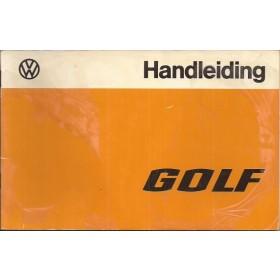 Volkswagen Golf Instructieboekje   Benzine/Diesel Fabrikant 75 met gebruikssporen folie kaft laat deels los  Nederlands