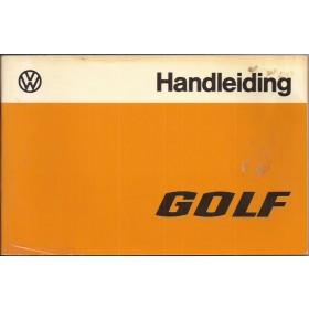 Volkswagen Golf Instructieboekje   Benzine/Diesel Fabrikant 76 met gebruikssporen   Nederlands