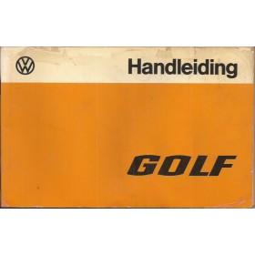 Volkswagen Golf Instructieboekje   Benzine/Diesel Fabrikant 76 met gebruikssporen folie kaft laat deels los  Nederlands