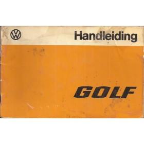 Volkswagen Golf Instructieboekje   Benzine/Diesel Fabrikant 77 met gebruikssporen folie kaft laat deels los  Nederlands