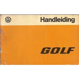 Volkswagen Golf Instructieboekje   Benzine/Diesel Fabrikant 77 met gebruikssporen achterkaft ontbreekt  Nederlands