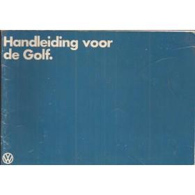 Volkswagen Golf Instructieboekje   Benzine/Diesel Fabrikant 79 ongebruikt   Nederlands