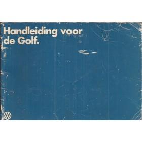 Volkswagen Golf Instructieboekje   Benzine/Diesel Fabrikant 81 met gebruikssporen   Nederlands