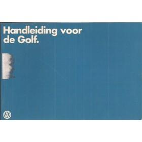 Volkswagen Golf Instructieboekje   Benzine/Diesel Fabrikant 83 met gebruikssporen   Nederlands