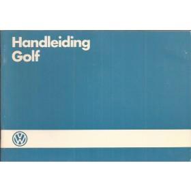 Volkswagen Golf Instructieboekje   Benzine/Diesel Fabrikant 86 ongebruikt   Nederlands