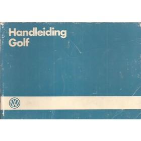 Volkswagen Golf Instructieboekje   Benzine/Diesel Fabrikant 86 met gebruikssporen   Nederlands