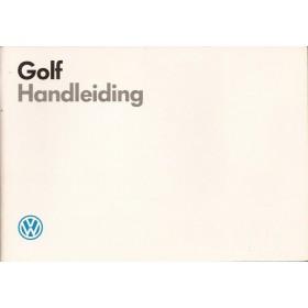 Volkswagen Golf Instructieboekje   Benzine/Diesel Fabrikant 87 met gebruikssporen   Nederlands