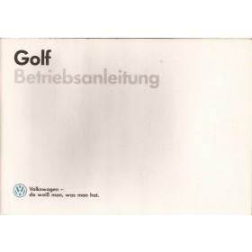 Volkswagen Golf Instructieboekje   Benzine/Diesel Fabrikant 87 met gebruikssporen   Duits