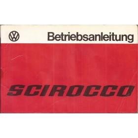 Volkswagen Scirocco Instructieboekje   Benzine Fabrikant 77 met gebruikssporen lichte vochtschade  Duits