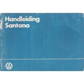 Volkswagen Santana Instructieboekje   Benzine/Diesel Fabrikant 84 met gebruikssporen lichte vochtschade  Nederlands