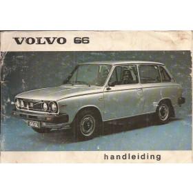 Volvo 66 Instructieboekje   Benzine Fabrikant 78 met gebruikssporen   Nederlands