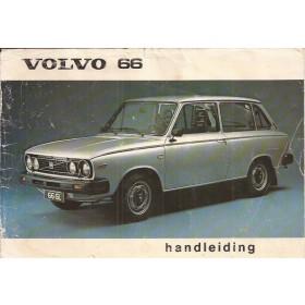 Volvo 66 Instructieboekje   Benzine Fabrikant 78 met gebruikssporen losse kaft  Nederlands