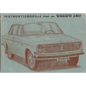 Volvo 140 Instructieboekje   Benzine Fabrikant 68 met gebruikssporen in originele map  Nederlands