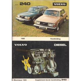 Volvo 240 Instructieboekje   Benzine/Diesel Fabrikant 80 ongebruikt met dieselsupplement  Nederlands