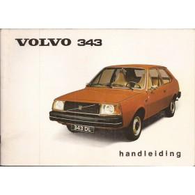 Volvo 343 Instructieboekje   Benzine Fabrikant 76 met gebruikssporen   Nederlands