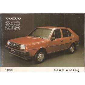 Volvo 343 Instructieboekje  MY 1980 Benzine Fabrikant 79 met gebruikssporen   Nederlands