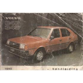 Volvo 343 Instructieboekje  MY 1980 Benzine Fabrikant 79 met gebruikssporen vochtschade, kaft beschadigd  Nederlands