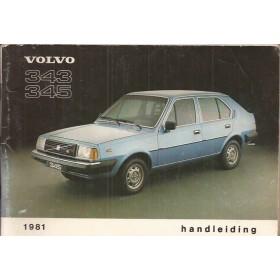 Volvo 343/345 Instructieboekje  MY 1981 Benzine Fabrikant 80 met gebruikssporen   Nederlands