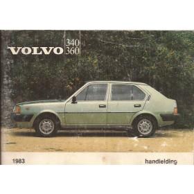 Volvo 343/345 Instructieboekje  MY 1983 Benzine Fabrikant 82 met gebruikssporen   Nederlands