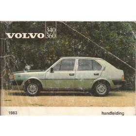 Volvo 343/345 Instructieboekje  MY 1983 Benzine Fabrikant 82 met gebruikssporen vouw in kaft  Nederlands