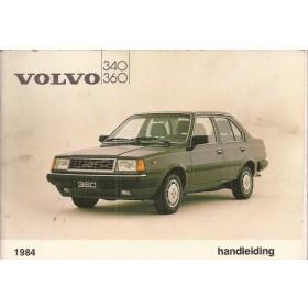 Volvo 340/360 Instructieboekje  MY 1984 Benzine Fabrikant 83 met gebruikssporen in originele map  Nederlands