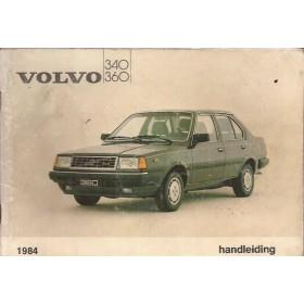Volvo 340/360 Instructieboekje  MY 1984 Benzine Fabrikant 83 met gebruikssporen lichte vochtschade  Nederlands