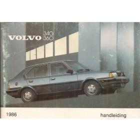 Volvo 340/360 Instructieboekje  MY 1986 Benzine Fabrikant 85 met gebruikssporen   Nederlands