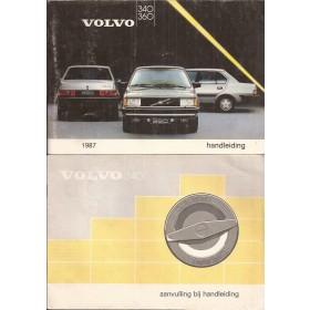 Volvo 340/360 Instructieboekje  MY 1987 Benzine/Diesel Fabrikant 86 met gebruikssporen met dieselsupplement  Nederlands