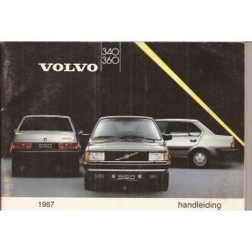 Volvo 340/360 Instructieboekje  MY 1987 Benzine Fabrikant 86 met gebruikssporen   Nederlands