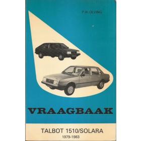 Talbot 1510/Solara Vraagbaak P. Olving  Benzine Kluwer 79-83 met gebruikssporen Nederlands