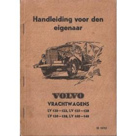 Volvo vrachtwagen LV-serie Instructieboekje   Benzine Importeur 47 met gebruikssporen hoekje uit achterkaft  Nederlands