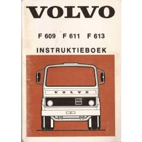 Volvo vrachtwagen F609/611/613 Instructieboekje   Diesel Fabrikant 75 met gebruikssporen   Nederlands